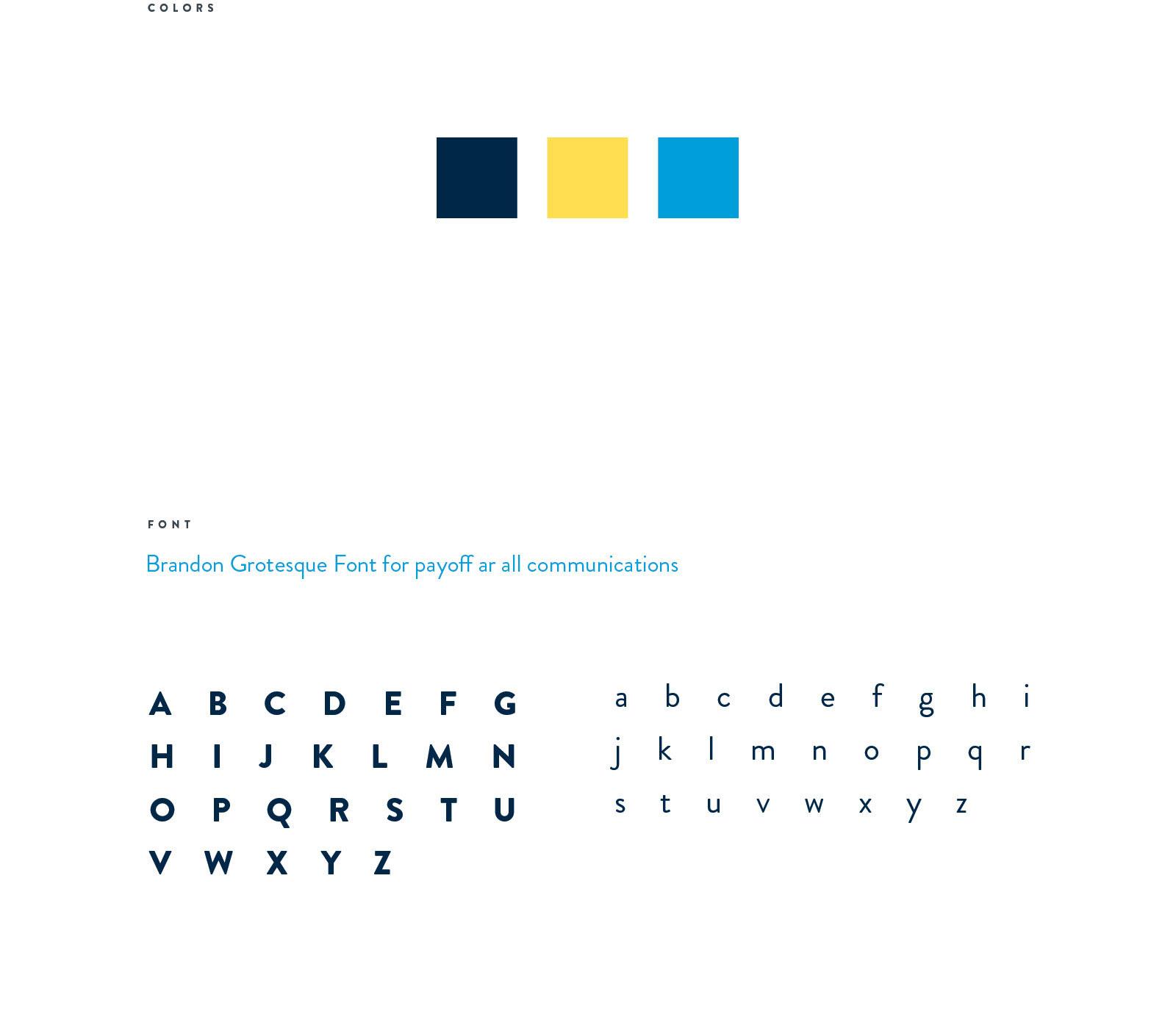 colors & font