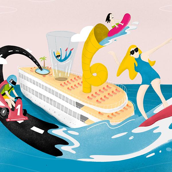 Cruise illustrations for Reisen Exclusiv